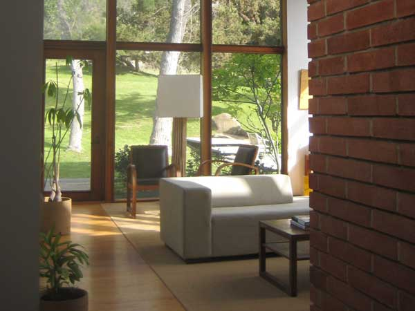 Living room of home in Chula Vista California with beautifully cleaned windows.
