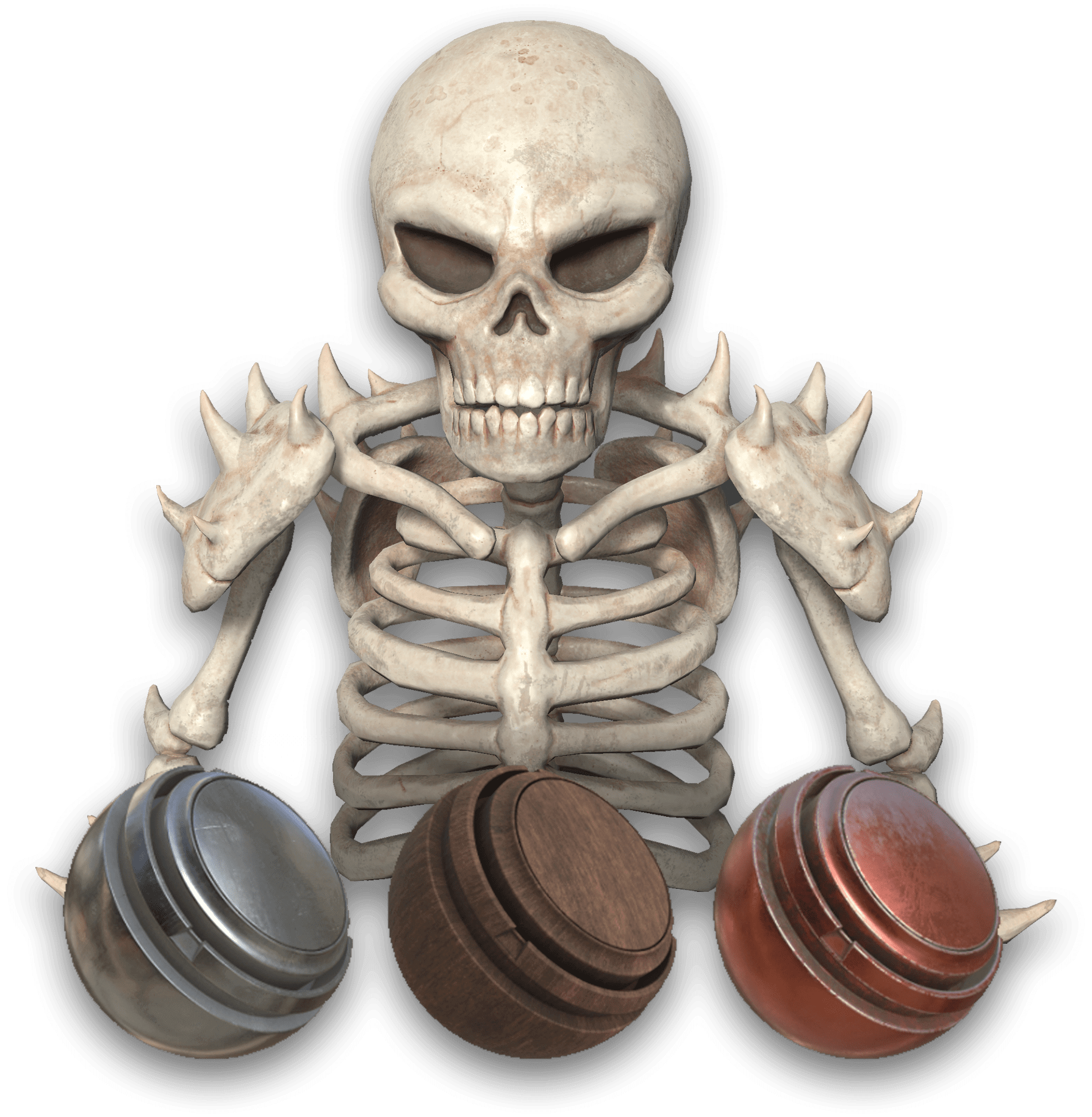 Skeleton Substance Texturing