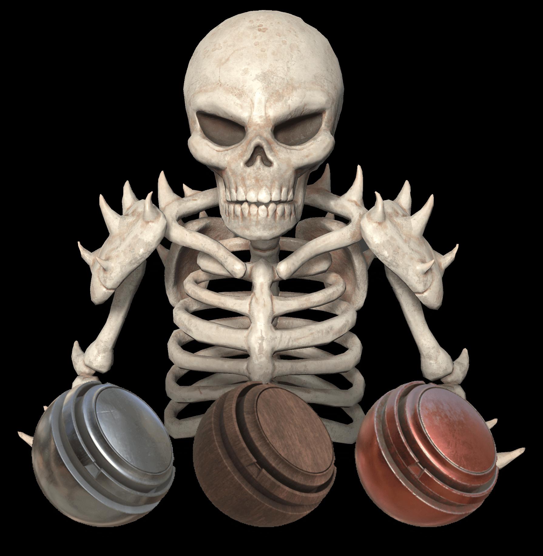 Skeleton Substance Texturing