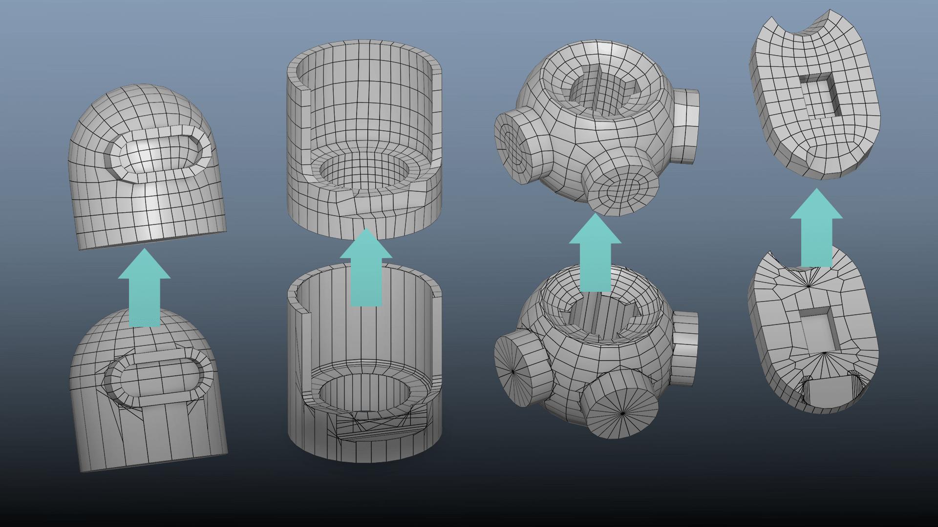 Auto Retopology Maya