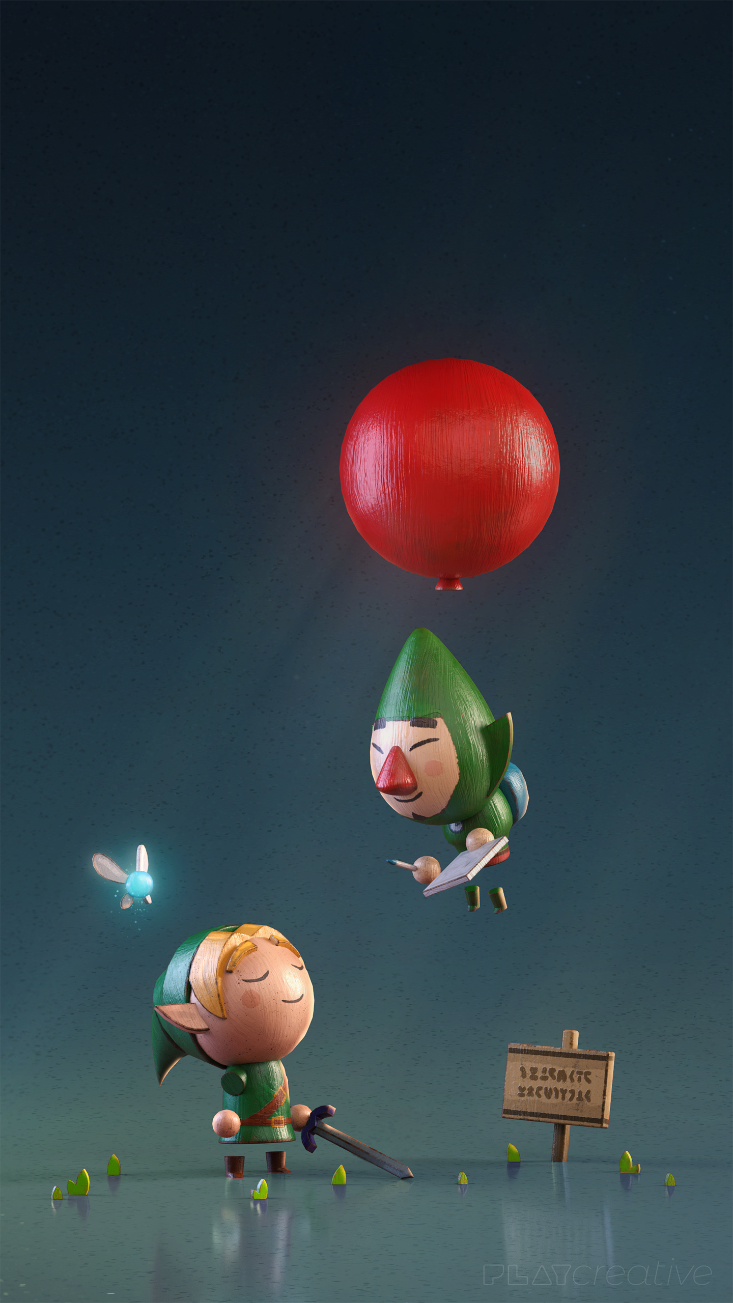 Link and Tingle Zelda Phone Wallpaper