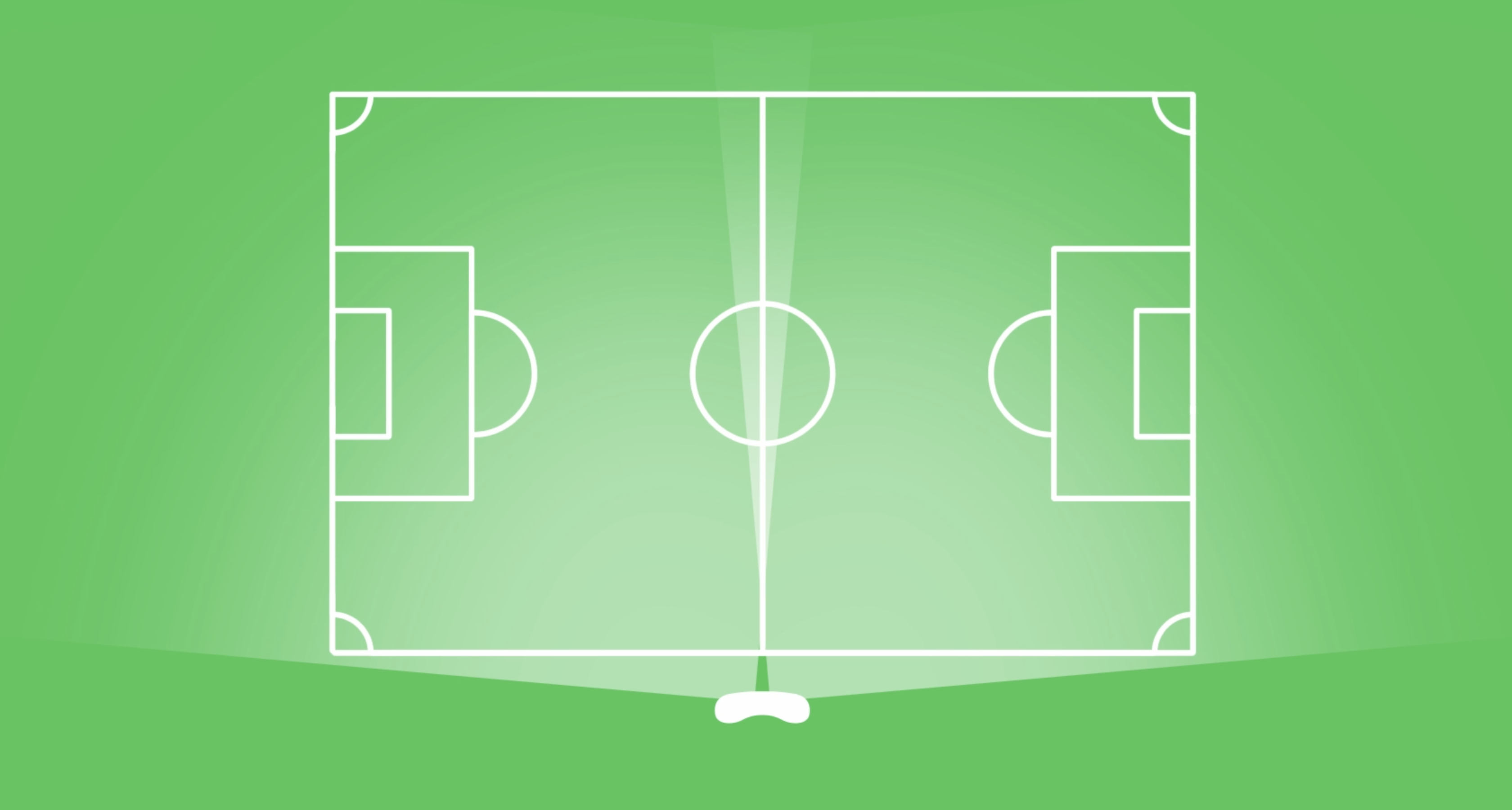 Veo records the whole football pitch when placed on the touch-line