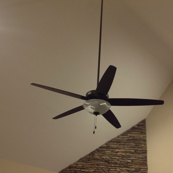 Ceiling installation in a 2 story family room in Chesterfield County