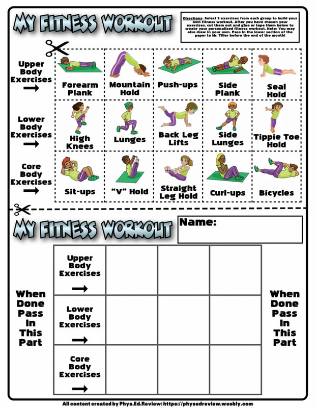 Home education resources for physical activity