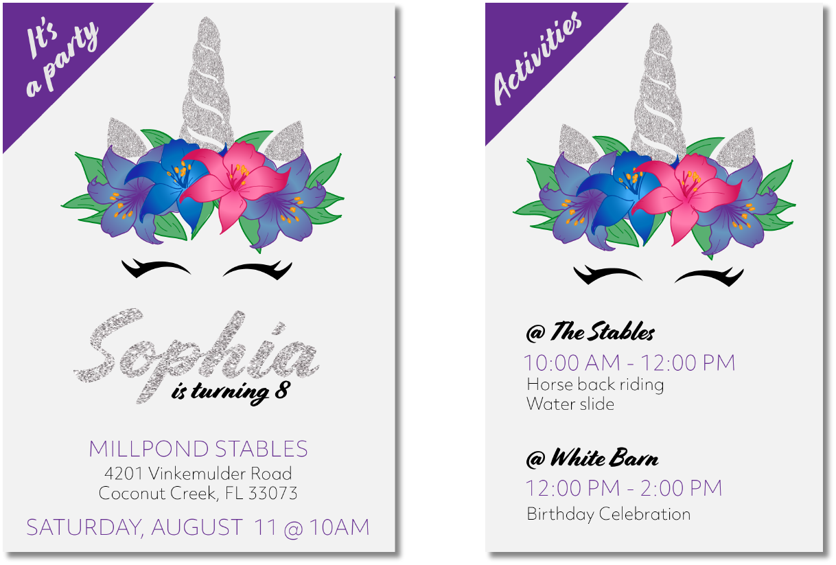 e birthday invitation