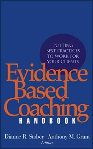 Book jacket Evidence Based Coaching Handbook