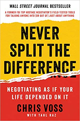 Book Jacket for Never Split the Difference