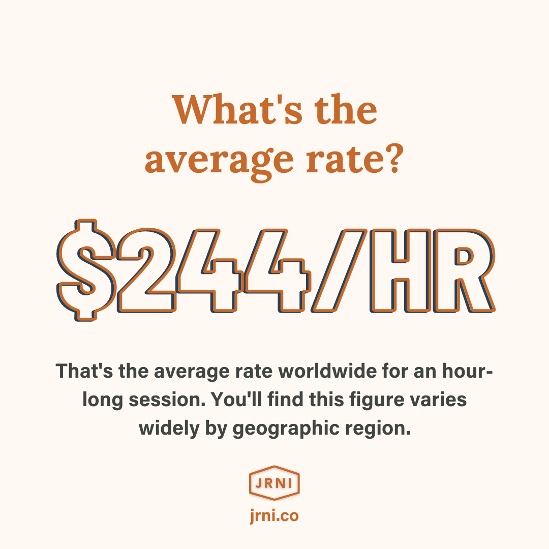 What's the average coaching rate worldwide? $244 per hour.