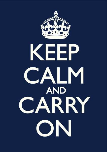 Keep Calm and Carry On war poster