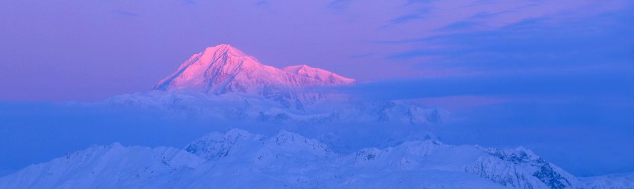 Mountain alpenglow image