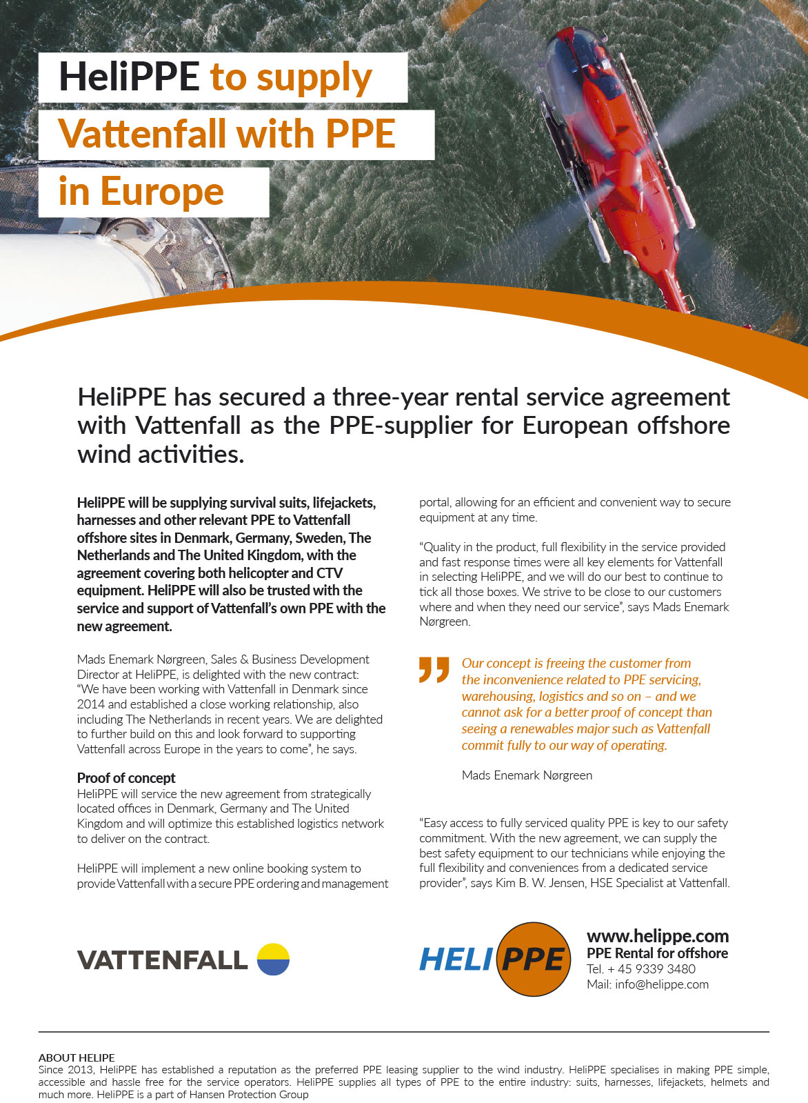 HeliPPE Vattenfall Article