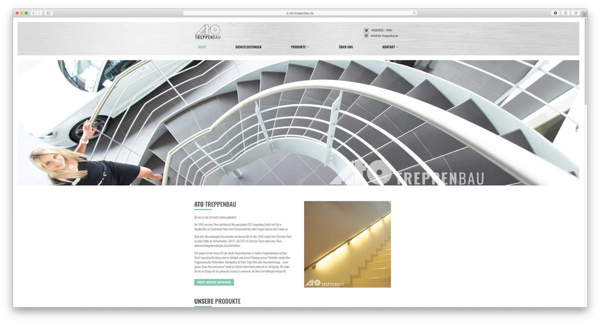 Website ATO Treppenbau GmbH