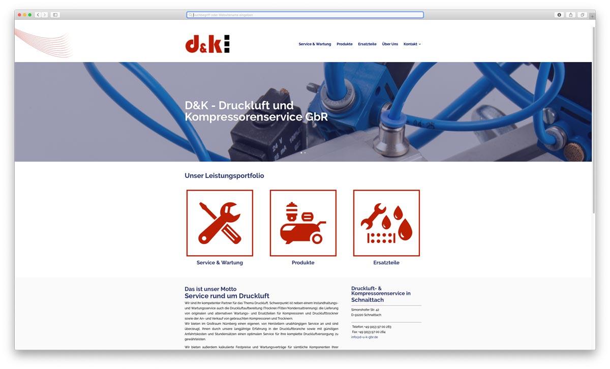 Druckluft und Kompressorenservice Website