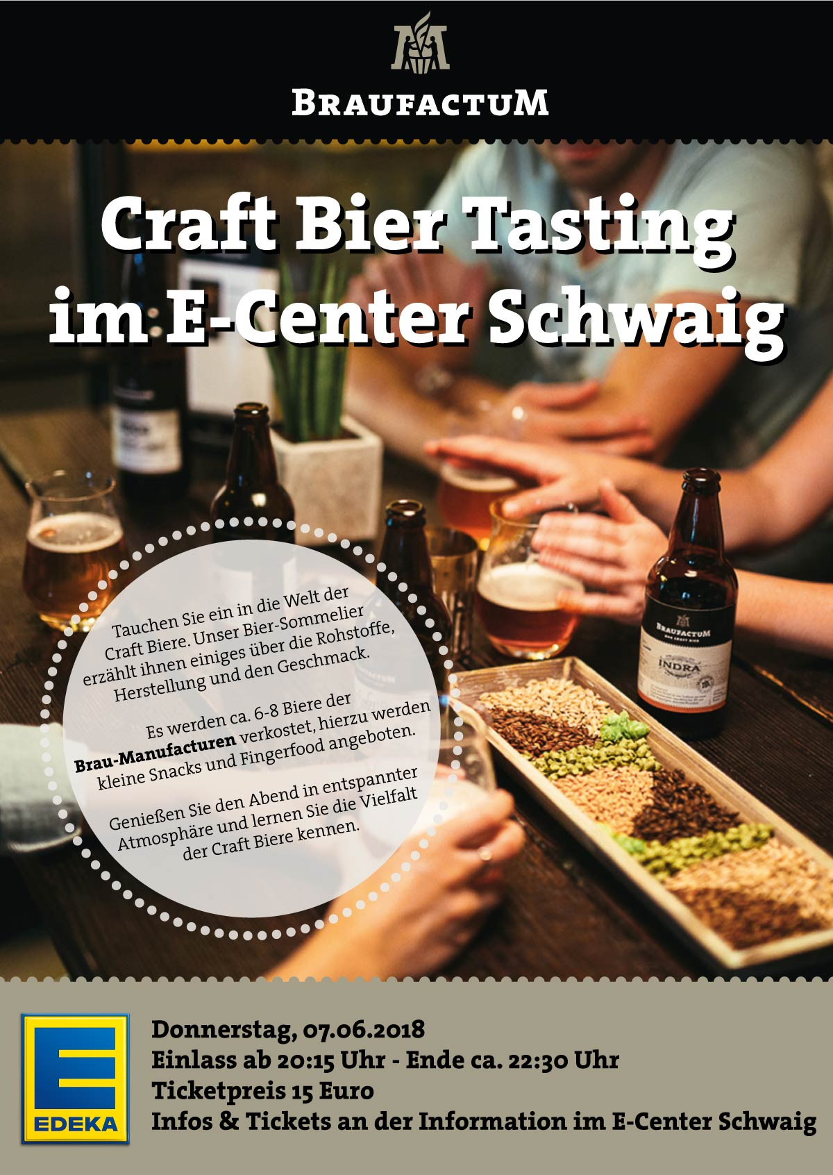 Craft Bier Tasting E-Center Schwaig