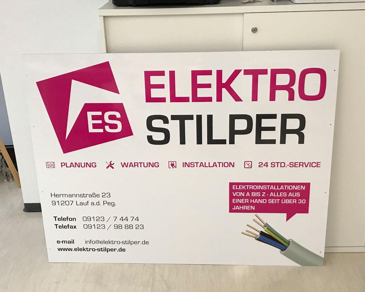 Schild Elektro Stilper