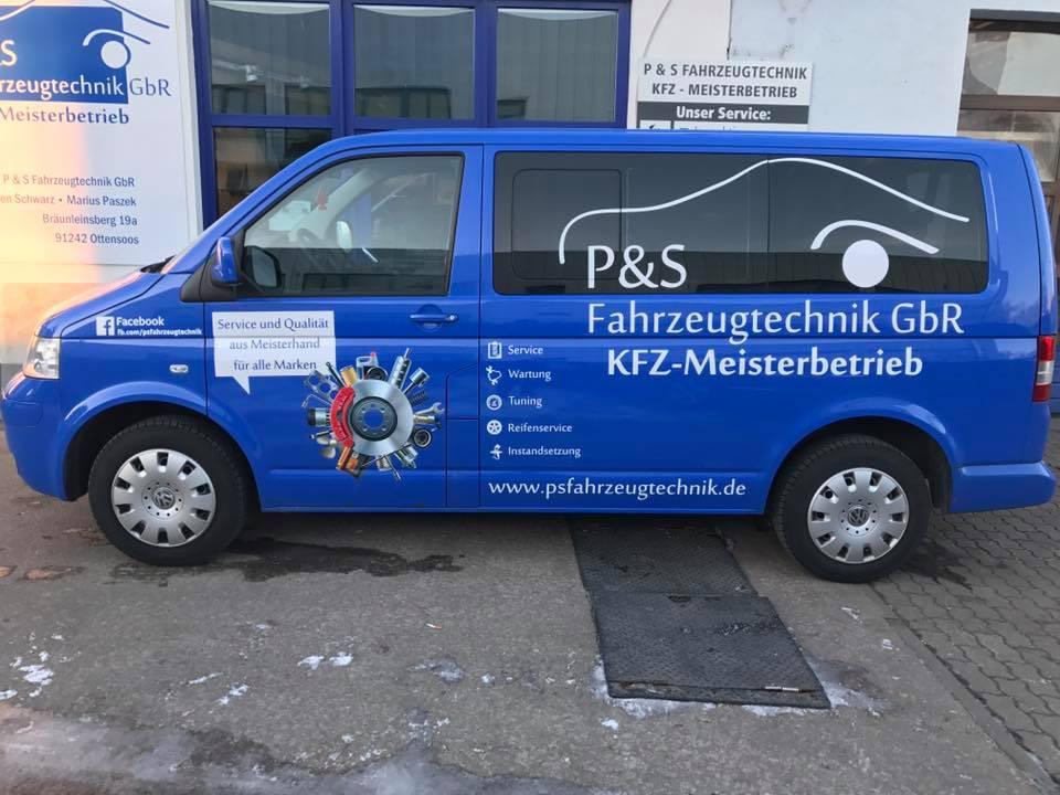 Werkstattbus P&S Beschriftung