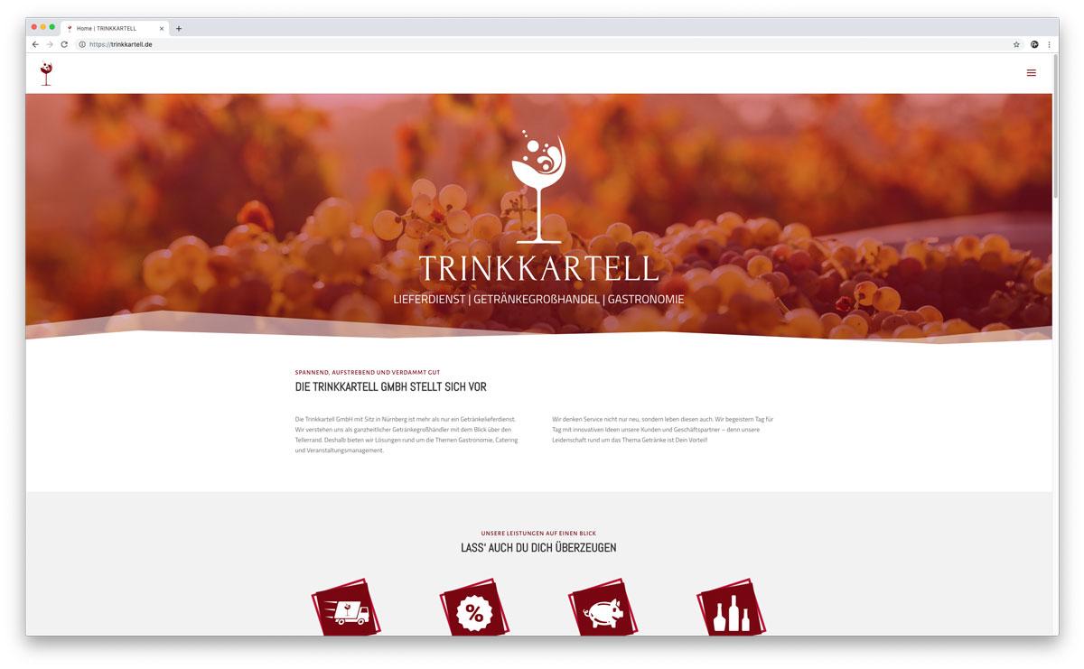 Trinkkartell GmbH Website