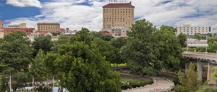 San Angelo skyline and park