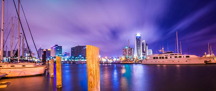 Corpus Christi Skyline at Night