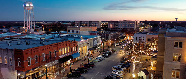 McKinney Texas Historic Downtown Area