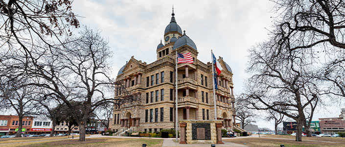 Denton County Courthouse in Denton, Texas