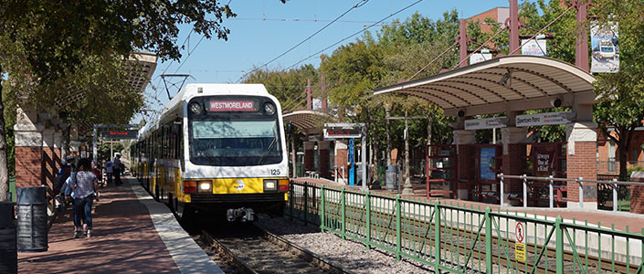 Dart Station in downtown Plano