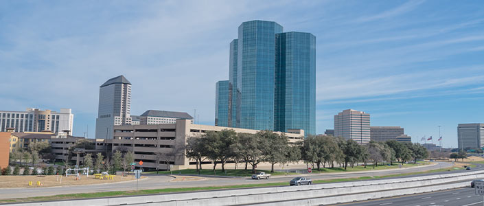 Tall buildings in Irving, Texas