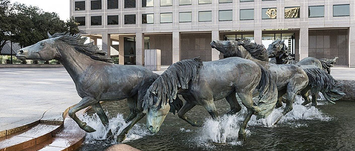 Las Colinas Mustang Statue in Irving, Texas