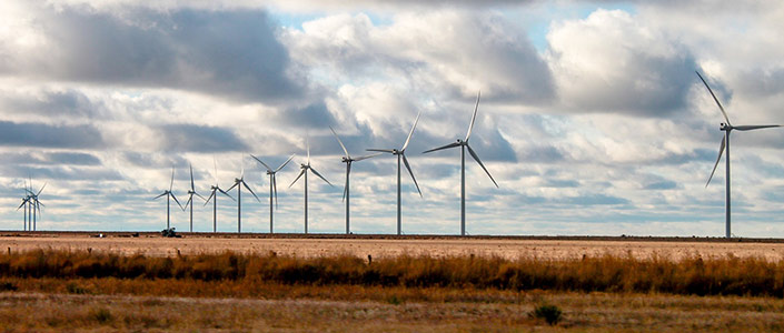 Texas Wind Farms generate renewable energy
