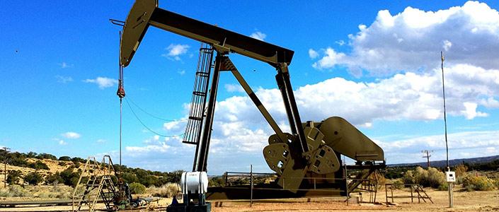 An oil pump jack in Odessa, Texas