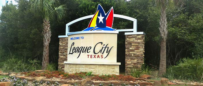 League City welcome sign