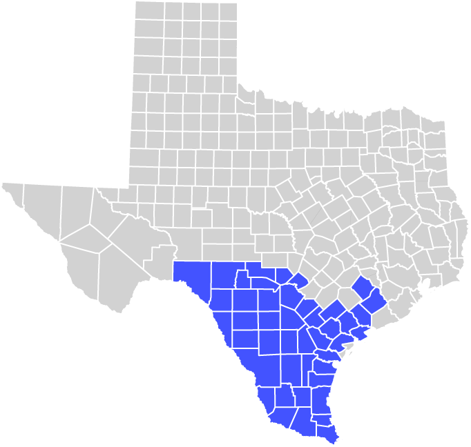 AEP Texas Central Service Area