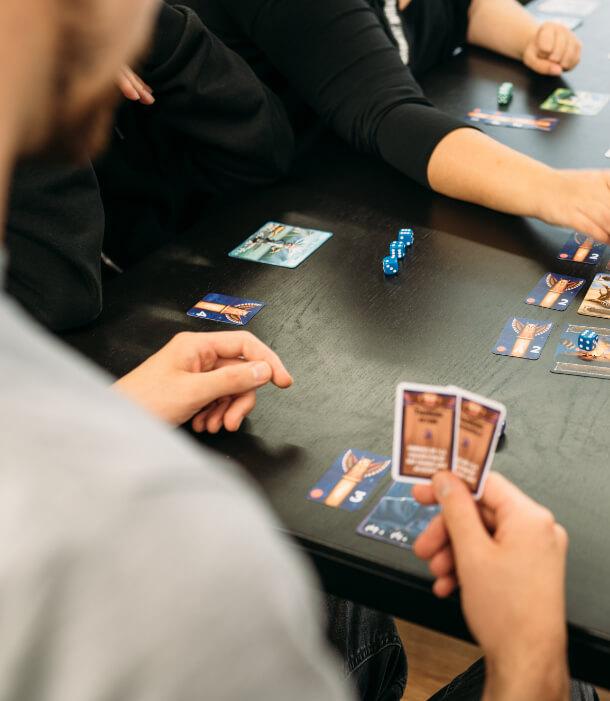 Partie de jeu de cartes