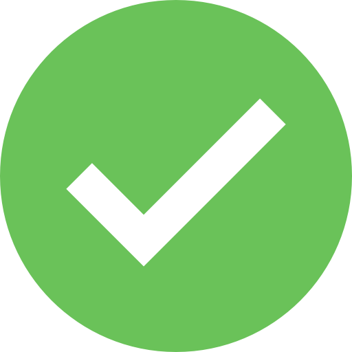 Green tick icon