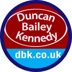 Logo of Duncan Bailey Kennedy in a headshot template