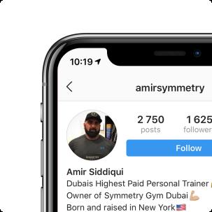 Amir Siddiqui's Instagram profile