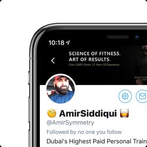 Amir Siddiqui's Twitter profile