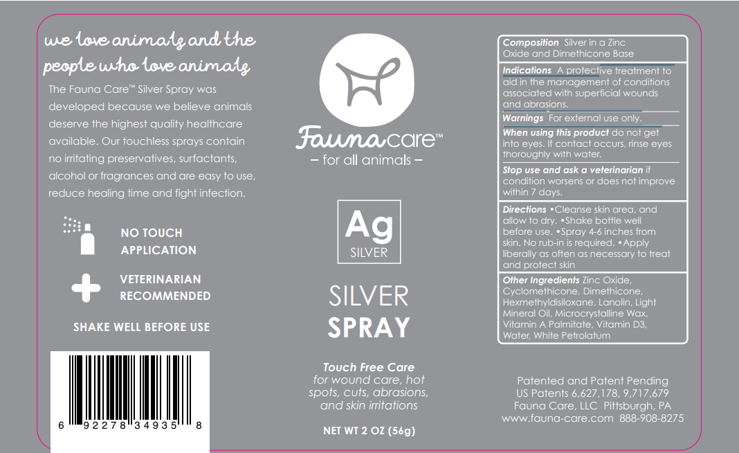 fauna care silver spray label