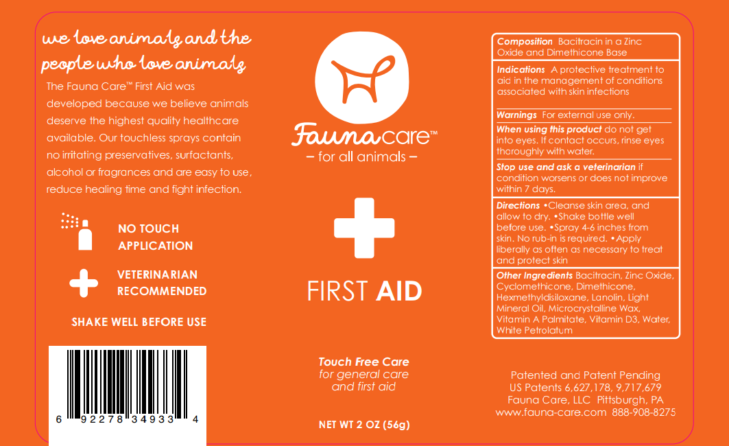 fauna care first aid spray label