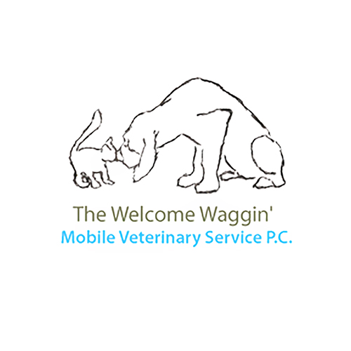 The Welcome Waggin' Mobile vet service logo