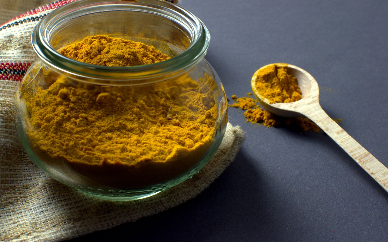 bowl of turmeric spice