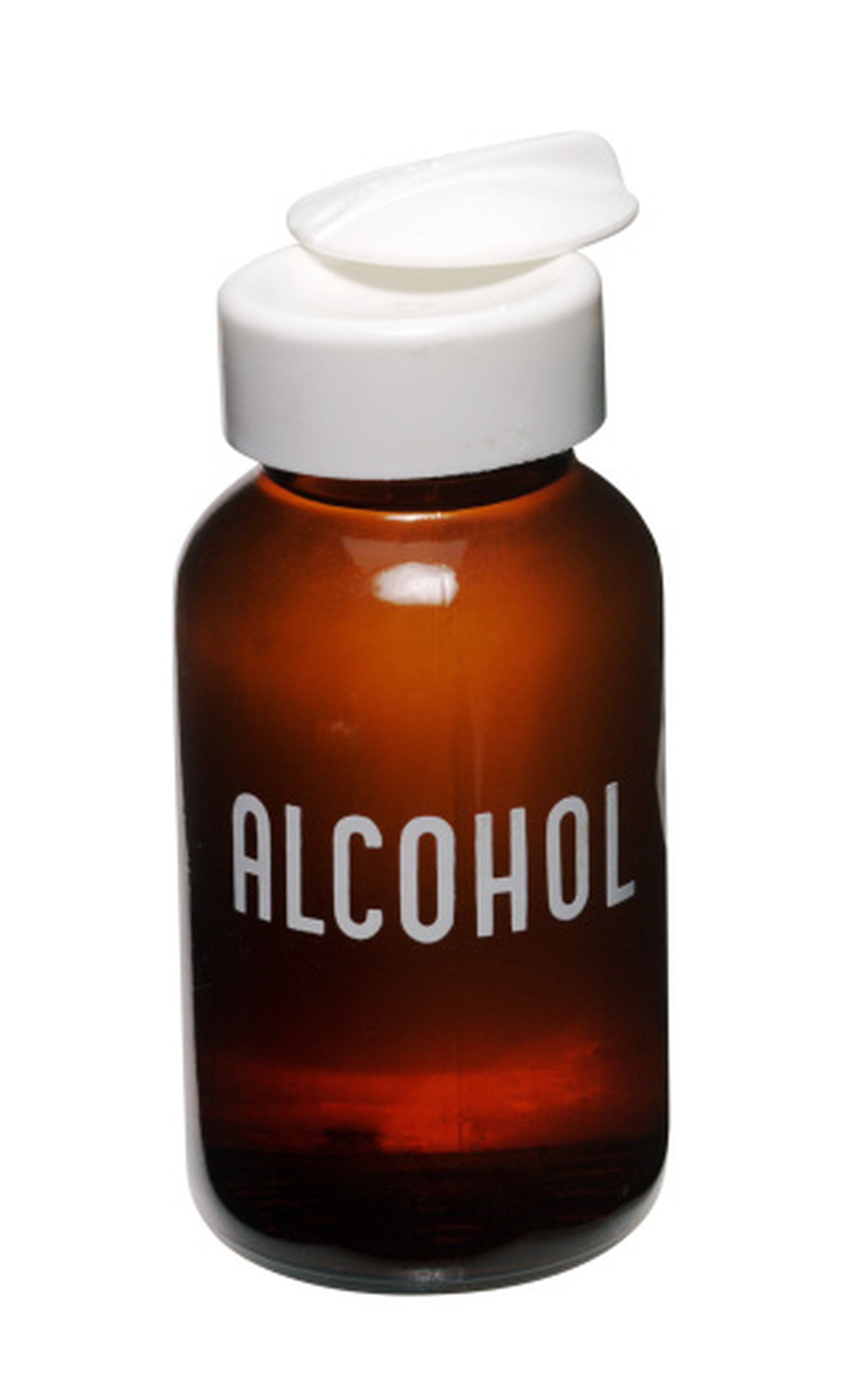 alcohol bottle for rubbing alcohol