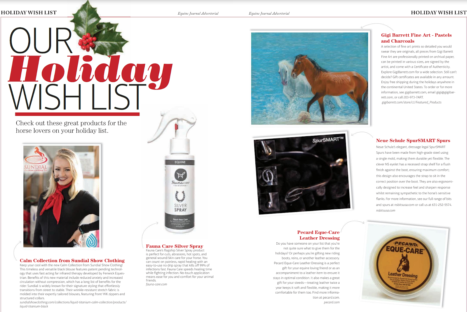 Fauna Care & others on the Equine Journal's Holiday Wishlist
