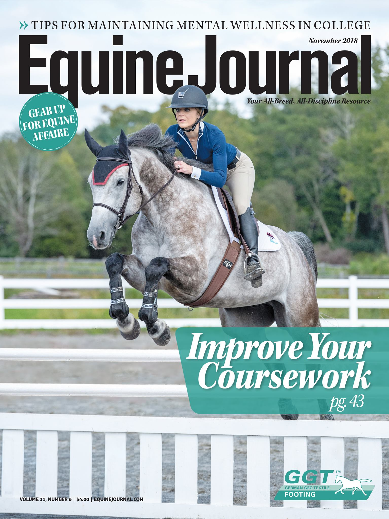 Equine journal November cover