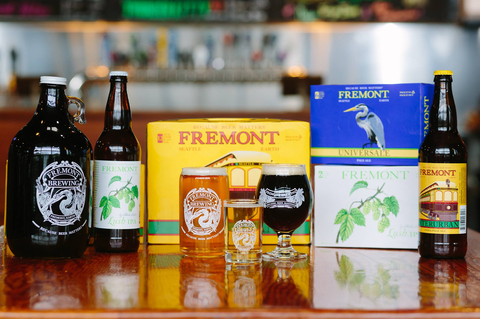 A wide selection of Fremont Brewery Beer.
