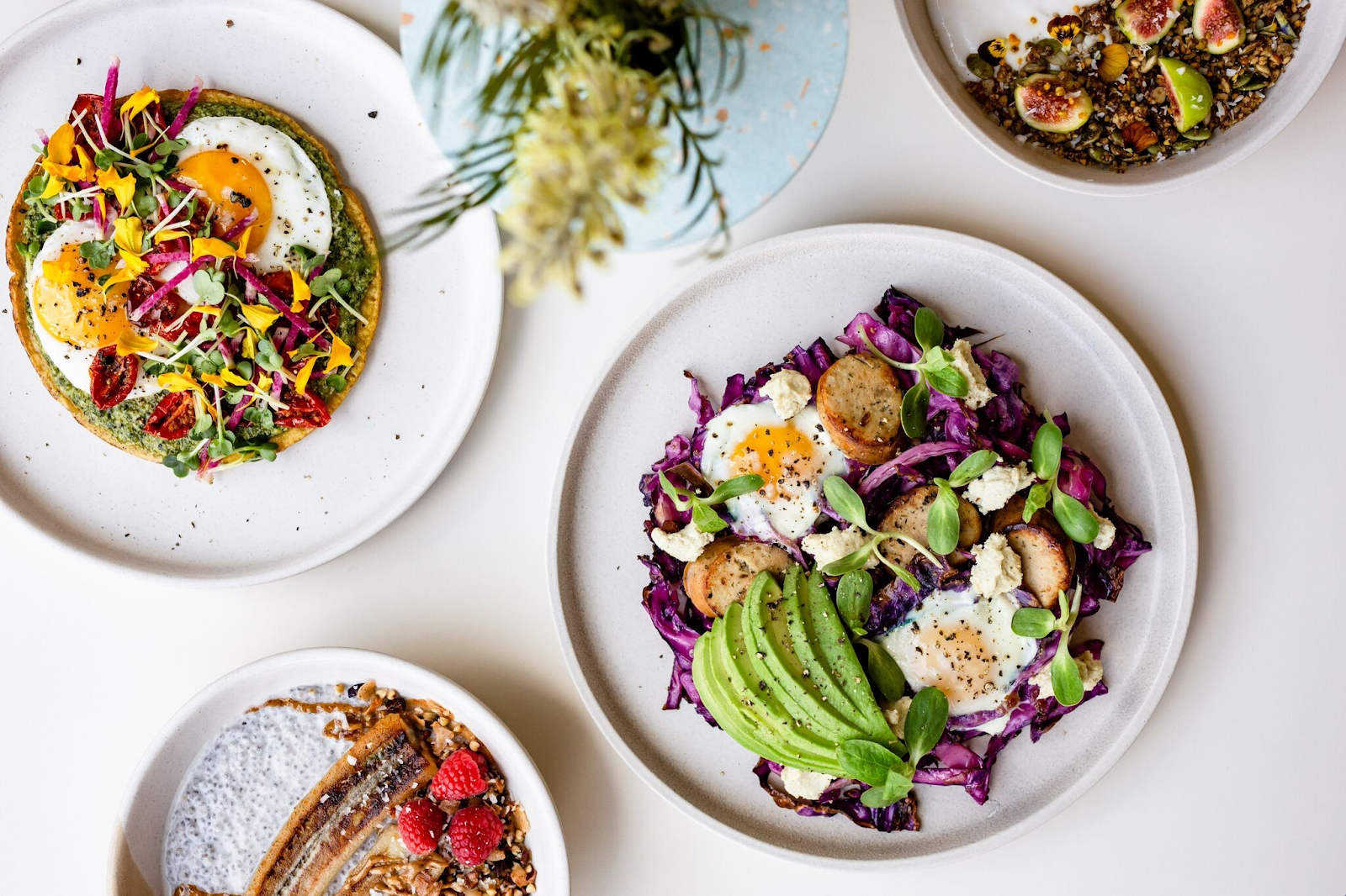 Vibrant's aesthetically pleasing dishes