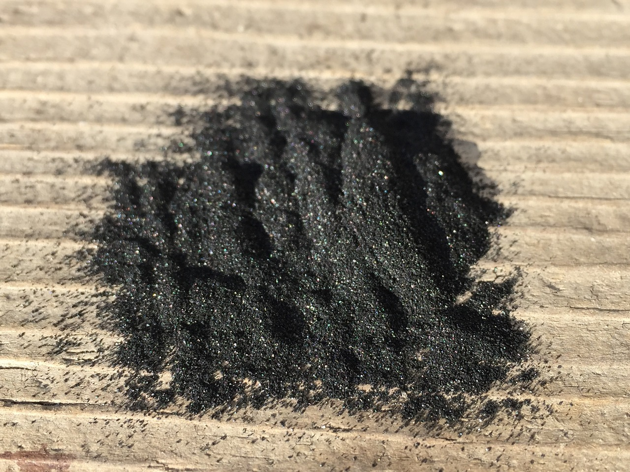 powdered charcoal
