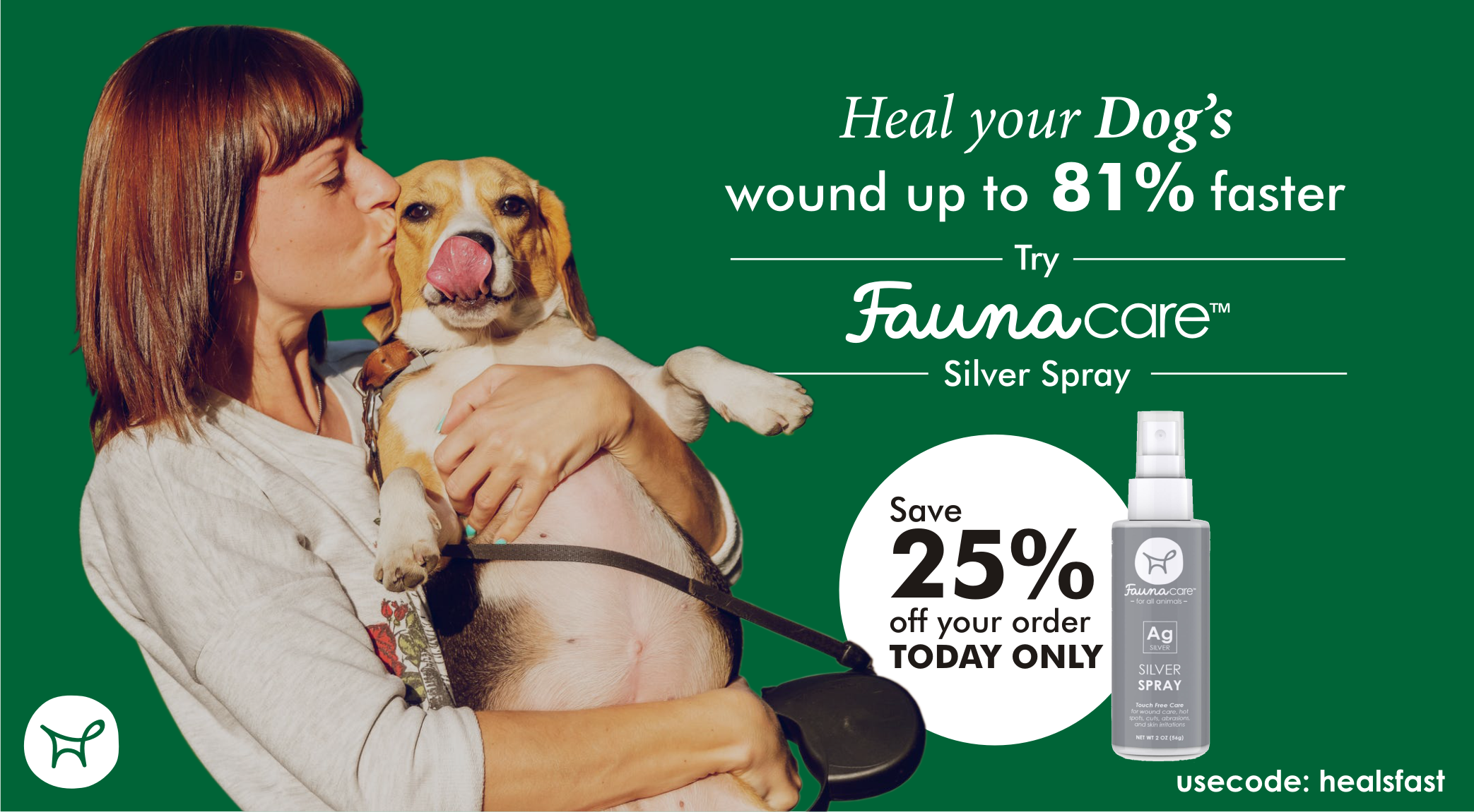 FaunaCare silver spray wound healing advertisement