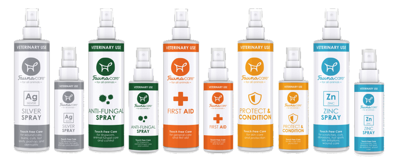 Full range of FaunaCare sprays distributed to the contest winner and a cat shelter