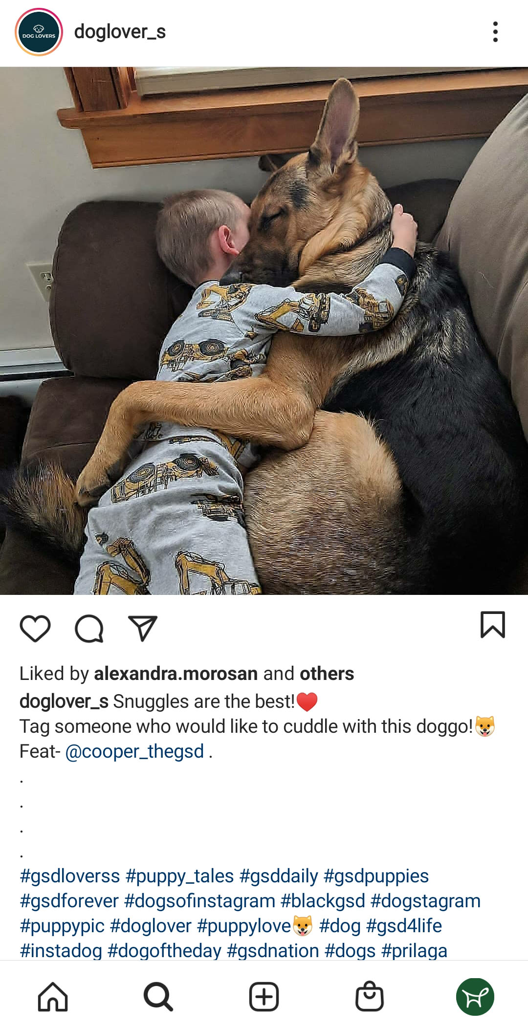 kid sleeping with the dog